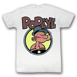 Popeye Dots Natural Adult T-Shirt