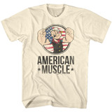 Popeye Muscle Natural Adult T-Shirt