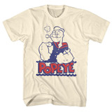 Popeye Natural Adult T-Shirt