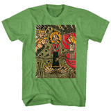 Popeye Mosaic Olive Kelly Heather Adult T-Shirt