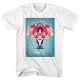 Popeye Popeye And Friends White Adult T-Shirt