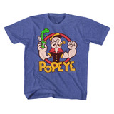 Popeye Spinach Vintage Royal Youth T-Shirt