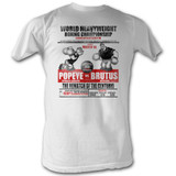 Popeye Popeye vs. Brutus White Adult T-Shirt