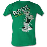 Popeye Popeye Splat Kelly Adult T-Shirt