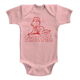 Popeye Sweet Pea Light Pink Baby Onesie T-Shirt