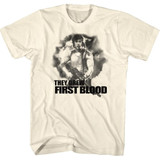 Rambo First Blood Natural Adult T-Shirt
