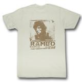 Rambo Blame Natural Adult T-Shirt