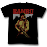 Rambo Real Rambo Black Adult T-Shirt