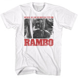 Rambo No One White Adult T-Shirt