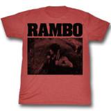 Rambo Marine Red Heather Adult T-Shirt