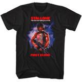 Rambo First Blood Black Adult T-Shirt