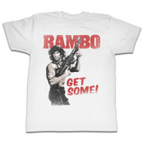Rambo Get Some White Adult T-Shirt