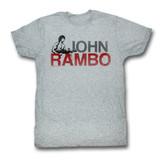 Rambo Jonbo Gray Heather Adult T-Shirt