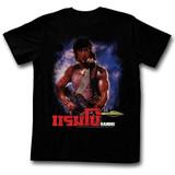 Rambo Unknown Black Adult T-Shirt