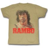 Rambo Grunge Rambo Khaki Heather Adult T-Shirt