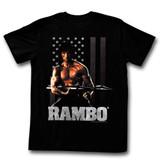 Rambo Ramberica Black Adult T-Shirt