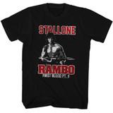 Rambo Black Adult T-Shirt