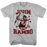 Rambo One Man One War Gray Heather Adult T-Shirt