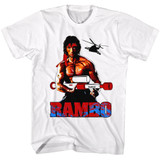 Rambo Water Logger White Adult T-Shirt