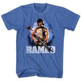 Rambo Wild Blue Yonder Royal Heather Adult T-Shirt