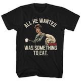 Rambo Something To Eat Black Adult T-Shirt