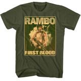 Rambo Lil Ramblins Military Green Adult T-Shirt