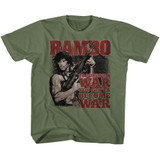 Rambo Become War Military Green Youth T-Shirt
