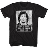 Rambo Mugshot Black Adult T-Shirt
