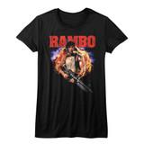 Rambo Explode Black Junior Women's T-Shirt