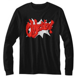 Ace Attorney Objection Black Adult Long Sleeve T-Shirt
