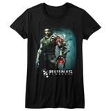 Bionic Commando Steam Arm Black Junior Women's T-Shirt