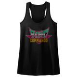 Bionic Commando Pixel Logo Black Junior Women's Racerback Tank Top T-Shirt