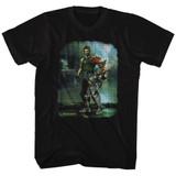 Bionic Commando Damaged Road Black Adult T-Shirt
