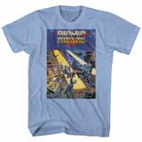 Bionic Commando Cover Light Blue Heather Adult T-Shirt
