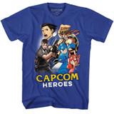 Capcom Cartoon Mash Royal Adult T-Shirt