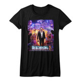 Dead Rising Purple Action Black Junior Women's T-Shirt