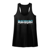 Dead Rising Logo Black Junior Women's Racerback Tank Top T-Shirt