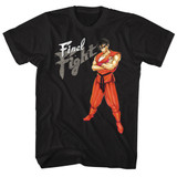 Final Fight Guy Black Adult T-Shirt
