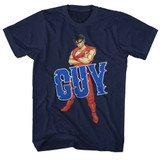 Final Fight Guy Navy Adult T-Shirt