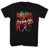 Final Fight Gang Black Adult T-Shirt