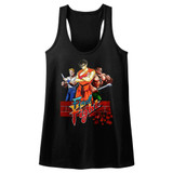 Final Fight Trio Black Junior Women's Racerback Tank Top T-Shirt