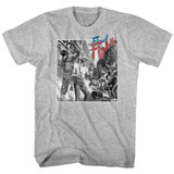 Final Fight Black And White Fight Gray Heather Adult T-Shirt