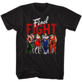 Final Fight Panels Black Adult T-Shirt