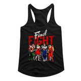 Final Fight Panels Black Junior Women's Racerback Tank Top T-Shirt