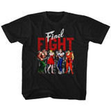 Final Fight Panels Black Youth T-Shirt
