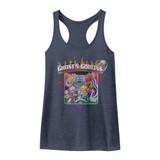 Ghosts 'n Goblins Vintage Navy Junior Women's Racerback Tank Top T-Shirt