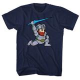 Ghosts 'n Goblins Arthur Navy Adult T-Shirt
