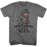 Ghosts 'n Goblins Arthur Graphite Heather Adult T-Shirt