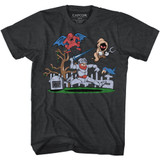 Ghosts 'n Goblins Graveyard Black Heather Adult T-Shirt