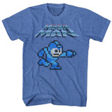 Mega Man Mega Gunner Royal Heather Adult T-Shirt